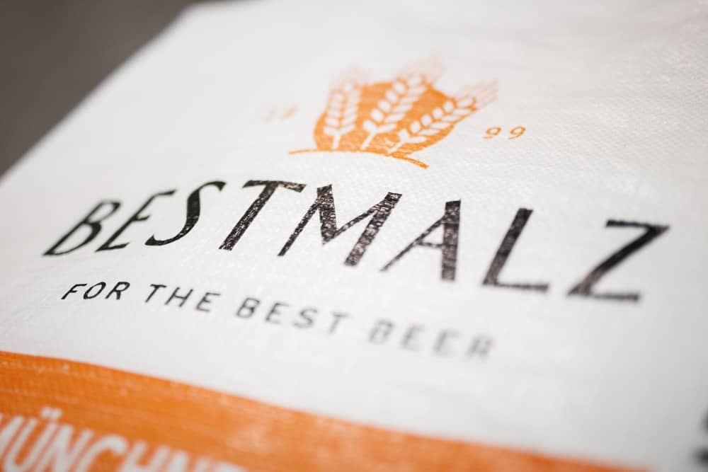 Bag of Bestmalz brewing malt