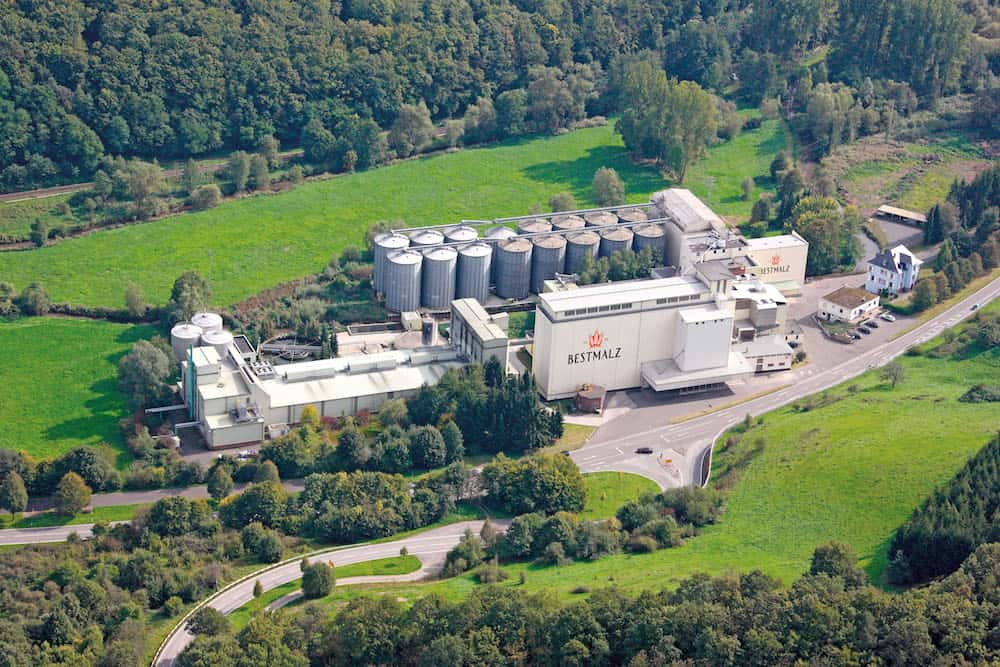 Aerial photo of Kreimbach malthouse