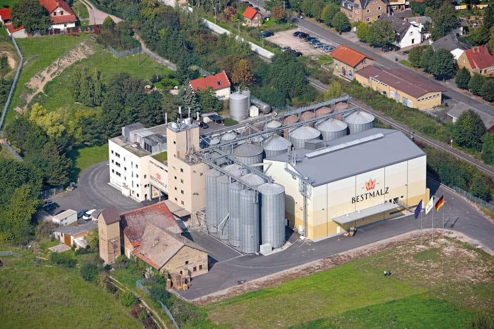 Aerial photo of Wallertheim malthouse