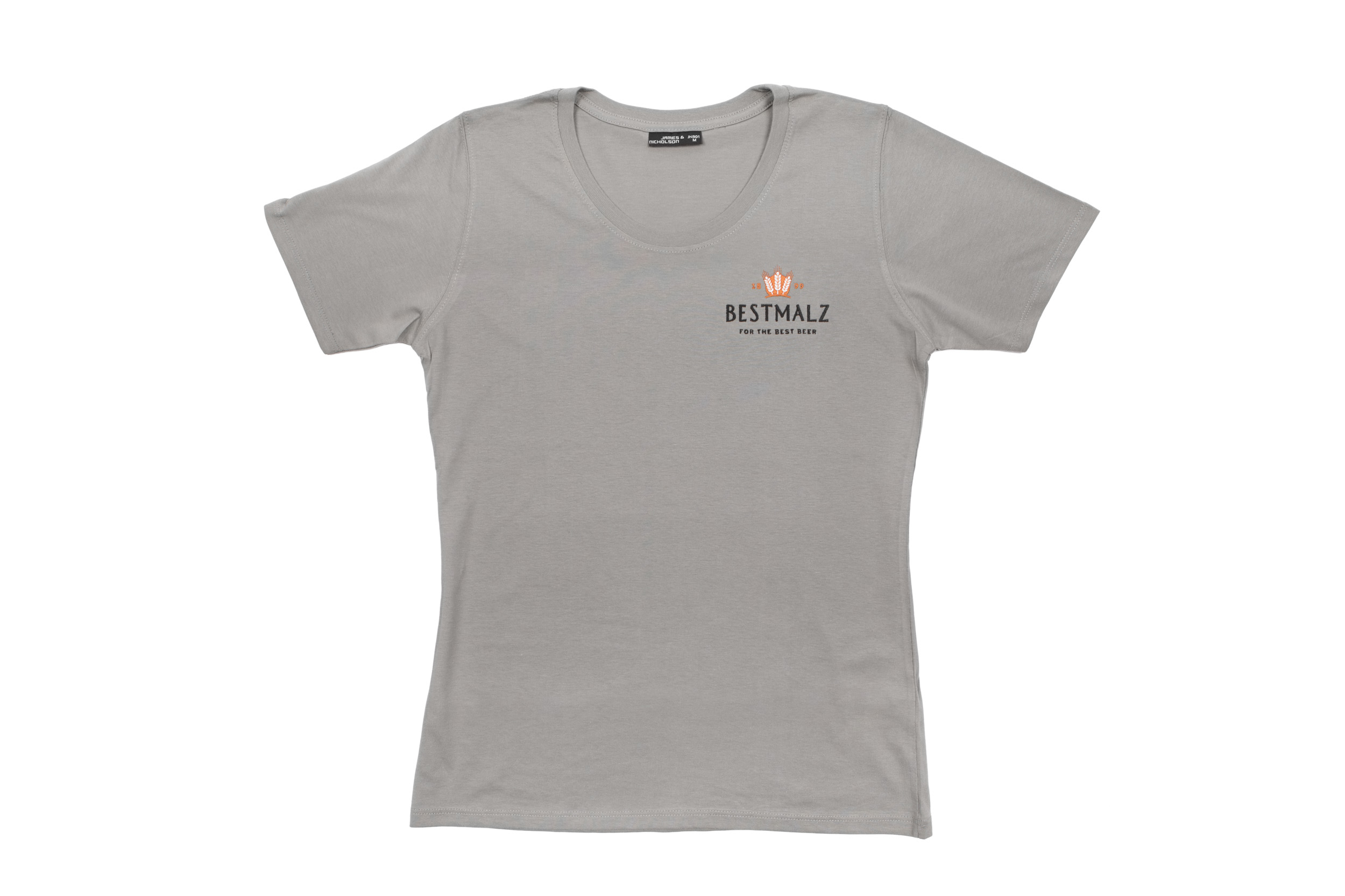 malt it up basic t shirt grey women bestmalz braumalz. Black Bedroom Furniture Sets. Home Design Ideas